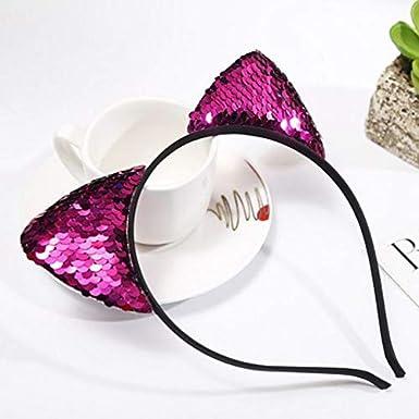 Amazon.com: Qifumaer Cat Ears Flip Sequin Hair Hoop Headband for Girls Headwear Hair Accessories and Daily Decoration: Clothing