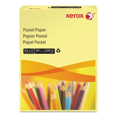 Multipurpose Pastel Colored Paper, 20-lb, Letter, Yellow, 500 Sheets/Ream, Sold as 1 Ream, 500 per Ream