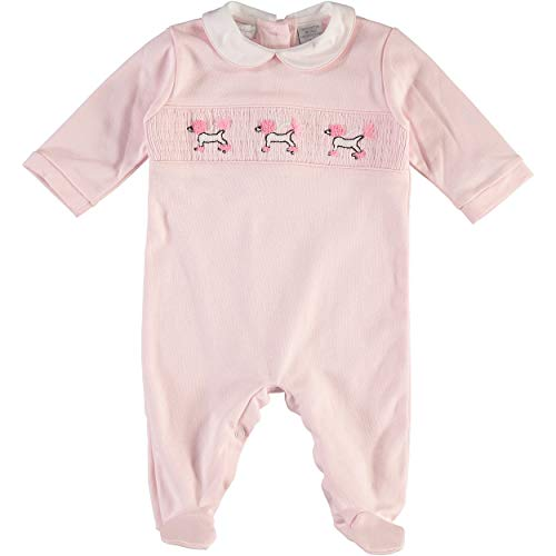 Carriage Boutique Girls Poodles Pink Footsie