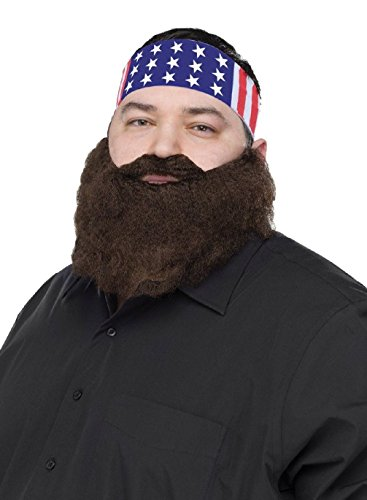 [Duck Call Hunter Dynasty Crimped Beard Moustache Mustache Costume Crazy Quackers] (Glitter Beard Costume)