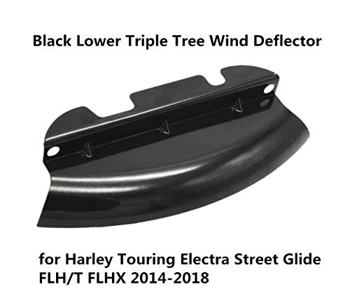 AUFER Black Lower Triple Tree Wind Deflector for Harley Touring Electra Street Glide FLH/T FLHX 2014-2019