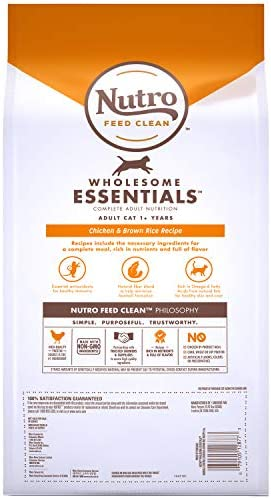 Nutro Wholesome Essentials Hairball Control Adult Dry Cat Food, Chicken 3