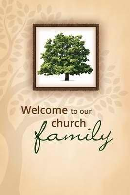(Welcome Folder - Welcome To Our Church Family/Tree (Pack Of 12))