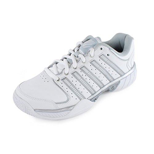 K-Swiss Hypercourt Express LTR Women's Tennis Shoes (White/Silver/Glacier Gray) (10 B(M) US)