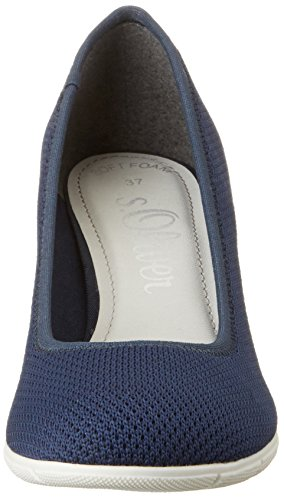 s.Oliver 22408, Zapatos de Tacón para Mujer Azul (NAVY 805)