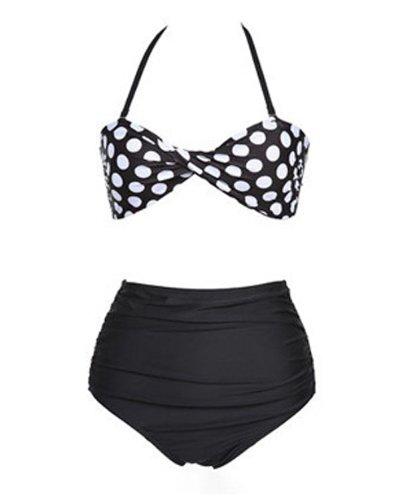 Hot Pinup Rockabilly Vintage High Waist Padded Swimsuit Swimwear Bikini