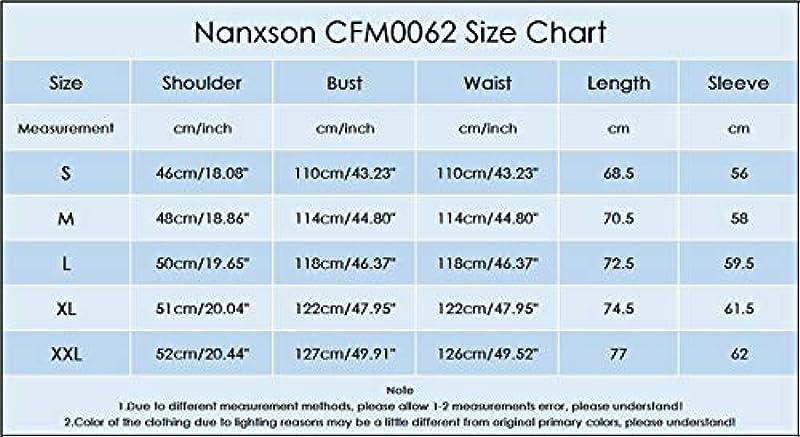 Nanxson CFM0062 męska kurtka kucharska, kurtka piekarska, z długim rękawem, miękka, przepuszczająca powietrze: Odzież