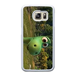 Generic Fashion Hard Back Case Cover Fit for Samsung Galaxy S6 Edge Cell Phone Case white The Good Dinosaur PKL-6023461