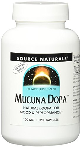 Source Naturals Mucuna Dopa 100mg, Natural L-Dopa for Mood & Performance, 120 Capsules