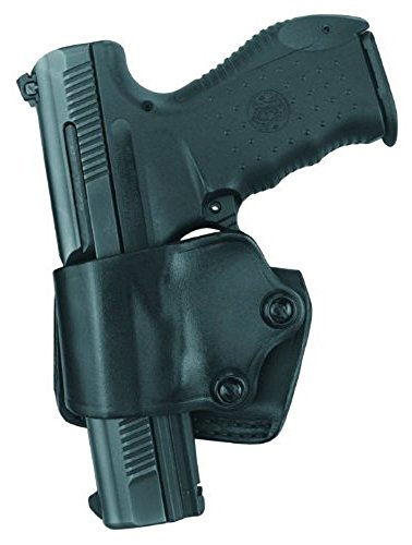 Gould & Goodrich B801-92FLH Gold Line Yaqui Slide Holster - Left Hand (Black) Fits BERETTA Cougar (all), 92 (all), 96 (all), Centurion, Brigadier-EXCEPT Vertec; COLT Double Eagle Commander, Double Eagle; GLOCK 17, 19, 22, 23, 24, 26, 27, 31, 32, 33, 34,