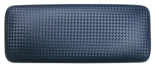 Glasses Case For Men & Women, Large Hard Shell Eyeglass Case, Diamond Weave, Navy/Black