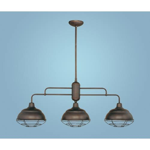 - Neo-Industrial 3 Light Kitchen Pendant Finish: Rubbed Bronze