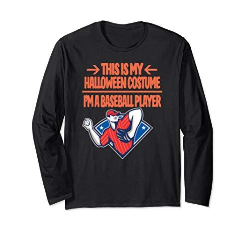 Baseball Player Halloween Costume T Shirt This Is My Costume