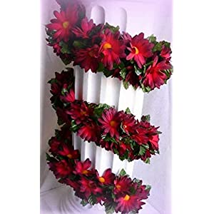 Inna-Wholesale Art Crafts New Burgundy Daisy Chain Garland Silk Decorating Flowers Arch Gazebo Decor - Perfect for Any Wedding, Special Occasion or Home Office D?cor 69
