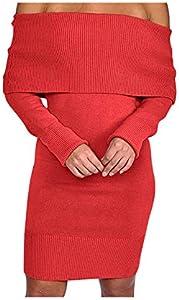 Sweepstakes: Women's Sexy Off Shoulder Long Sleeve Mini Pencil Bodycon...