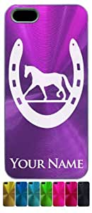 iPhone 5/5S Case/Cover - HORSESHOE AND HORSE - Personalized for FREE (Send us an Amazon email after purchase with your engraving request)