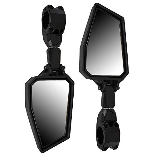 1 Pair UTV Rear View Mirror Side View Mirrors 1.75