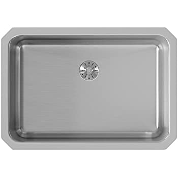 Elkay Lustertone ELUH2416PD Single Bowl Undermount Stainless Steel Sink  With Perfect Drain