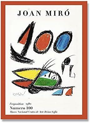 Joan Miró pinturas famosas carteles de arte abstracto e impresiones decoración de arte de pared cuadros impresos pinturas de lienzo sin marco A 30x45cm