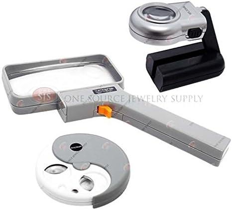 LED Handheld lupa lupa de bolsillo juego de mesa Top Multi-Power – Iluminado Hobby: Amazon.es: Juguetes y juegos