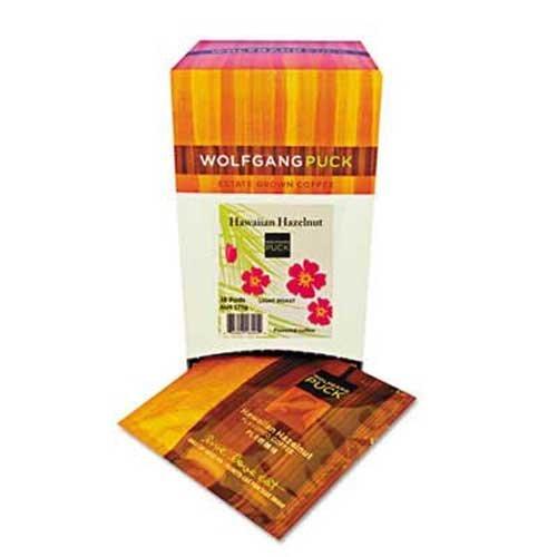 Wolfgang Puck Coffee Pods, Hawaiian Hazelnut, 18/Box (Worldwide Hospitality Furniture)