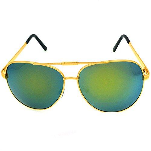 KaiSasi Mens Sunglasses Colorful Sunglasses Wild Frog Mirror Sunglasses Retro ()