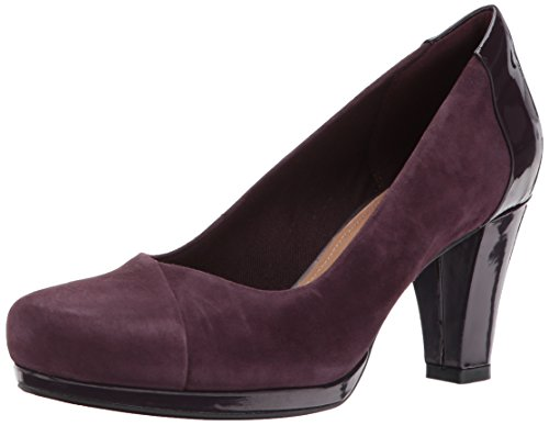 CLARKS Women's Chorus Carol Dress Pump Aubergine Suede cheap price pre order purchase online new styles 2014 unisex cheap price where to buy vobhOP4KF