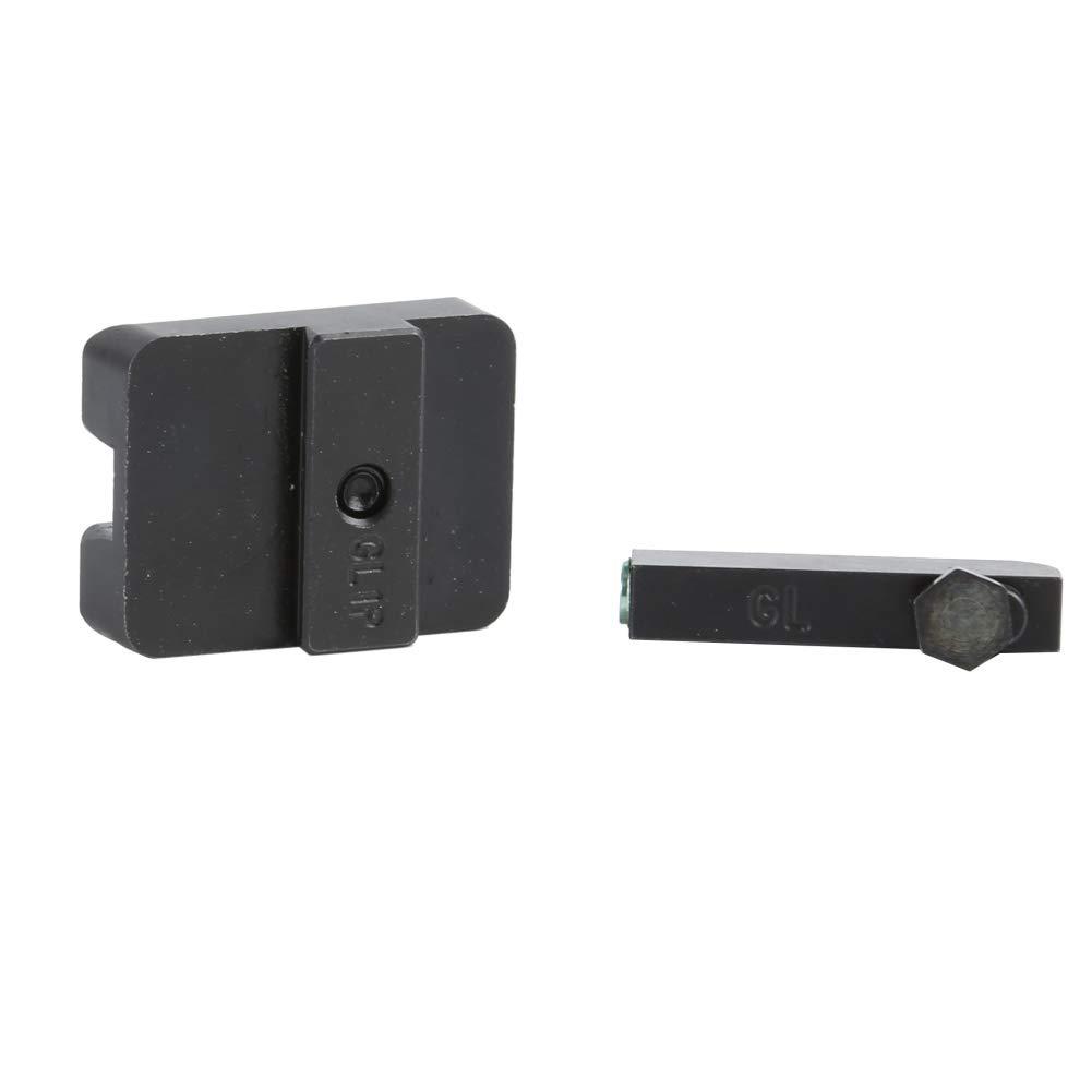 Schie/ßzubeh/ör Echt Rot Gr/ün Glasfaser-Front mit Combat-Visierkamera Focus-Lock f/ür Glock BJKM Fiber Optic Front Sight