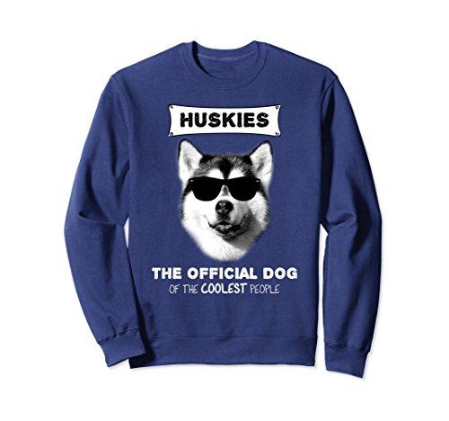 Unisex Siberian Husky Sweatshirt - Official Dog the Coolest People Large Navy