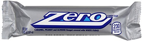(ZERO White Fudge Candy Bar (Pack of 24))