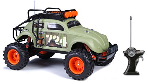 Maisto R/C Desert Rebel Volkswagen Beetle Radio Control Vehicle (1:10 Scale), Frustration Free Packaging - Radio Controlled Car Games