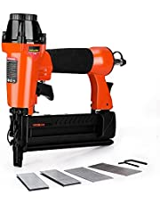 ValueMax 18-Gauge Pneumatic Brad Nailer, 2-in-1 Nail Gun/Staple Gun for Upholstery and Home Improvement,with 1-5/8 inch Staples,2-5/8 inch Brad Nails,Carrying Case and Safety Glasses