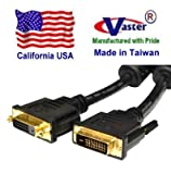 SuperEcable - DVI-D Dual Link 24+1 Digital Video Male to Female Extension Cable 15 Ft