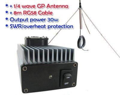 GOWE 30W profesional FM transmisor amplificador de 85 ~ 110MHz fmuser