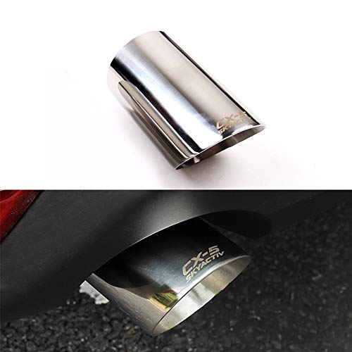 2Pcs Silver Stainless Steel Exhaust Muffler Tail Pipe Tip Tailpipe for Mazda CX5 CX-5 2008-2019