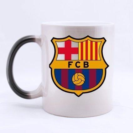 Barcelona FCB logo Morphing Coffee Mug or Tea Cup,Ceramic Material Mugs,Two sides 11oz (2)