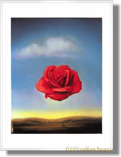 サルバドールダリ バラの瞑想 【ポスター+フレーム】約81x61cm ホワイト B009C93CO6ホワイト