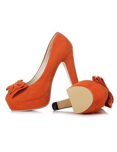 GGX/Damen Schuhe Samt die vier Jahreszeiten Heels/Plattform/Basic Pumpe Heels Office & Karriere/Casual geschoben Ferse black-us6.5-7 / eu37 / uk4.5-5 / cn37