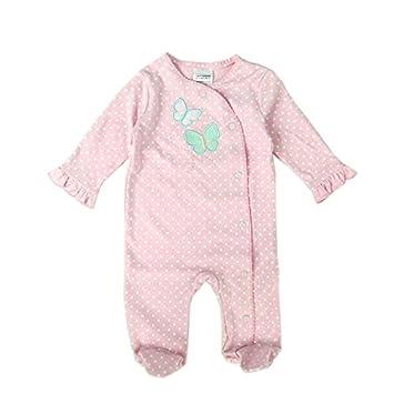e78478625db47 Limi ベビー 赤ちゃん 足つき ロンパース 長袖 カバーオール 100%綿製 肌着 前開き オールシーズン