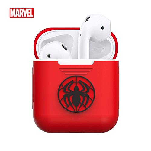 Marvel Spider Man AirPods Case Shockproof Protective Premium Silicone Cover Skins Charging Case Compatible with Cell Phone Apple Airpods 1 & AirPods 2 Avengers 4 Endgame ()