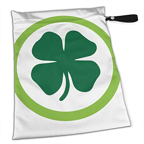 Shamrock Circle Tote Travel Accessories Size Happens Reusable Laundry Beach Toddler Dry Bag for Workout Swim Wet Kid Baby Gym Clothes Cloth Diaper Wetbag -