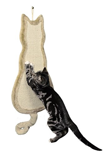 Trixie 43112 Kratzbrett Katze, 35 × 69 cm, beige