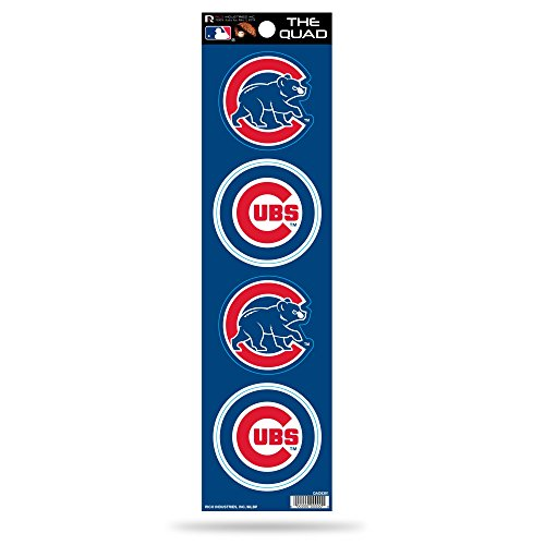 MLB Chicago Cubs Quad Decal - Chicago Logos Cubs
