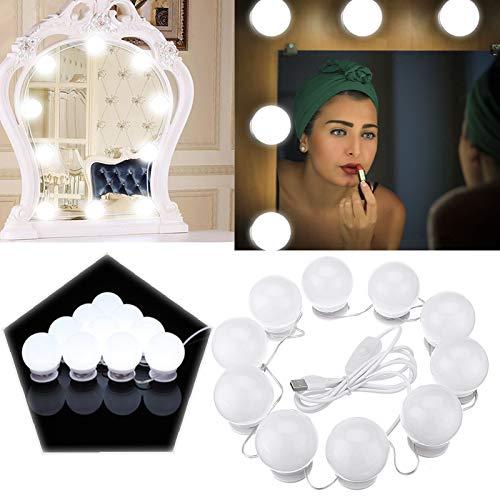 RISHIL WORLD 10W USB Touch Control LED Vanity Hollywood Estilo Maquillaje Espejo Fiesta foco para Decoración del Hogar...