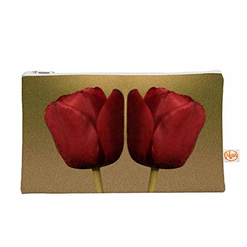 Kess eigene 12,5x 21,6cm Sylvia COOMES Two Of A Kind Alles Tasche–Rot Blumenmuster