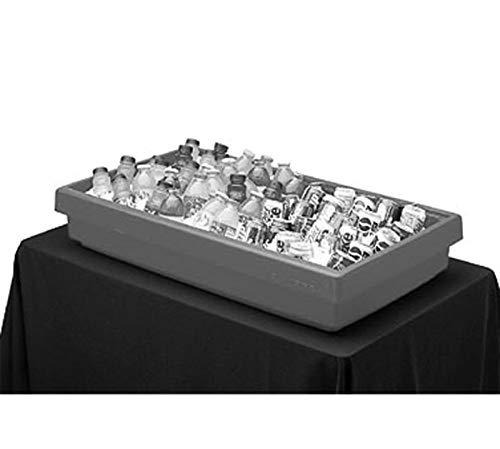 Cambro BUF72110 Black 5-Pan 6' Tabletop Buffet Bar