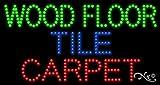 17x32x1 inches Wood Floor Tile Carpet Animated Flashing LED Window Sign