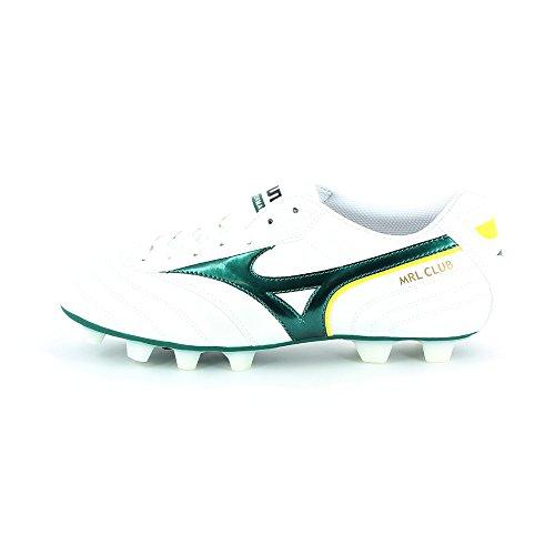 Mizuno Morelia Club MD Fester Boden Fußballstiefel Weiß