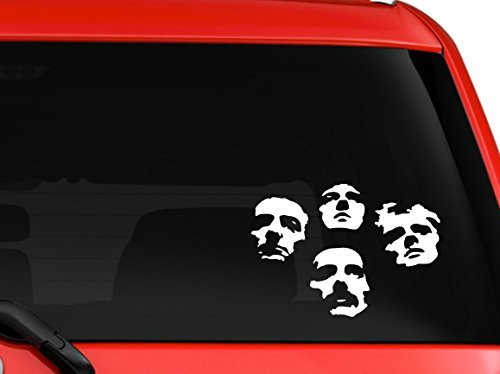 Queen British Rock band Bohemian Rhapsody Album cover silhouette car truck laptop window decal sticker 6x4 inches white