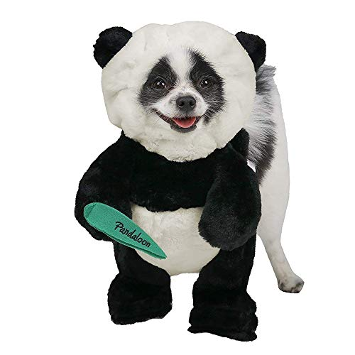 Pandaloon Panda Puppy Dog and Pet Costume Set - AS SEEN ON Shark Tank - Walking Teddy Bear with Arms (Size 3 (17-19.5 in Total Height), Panda) ()